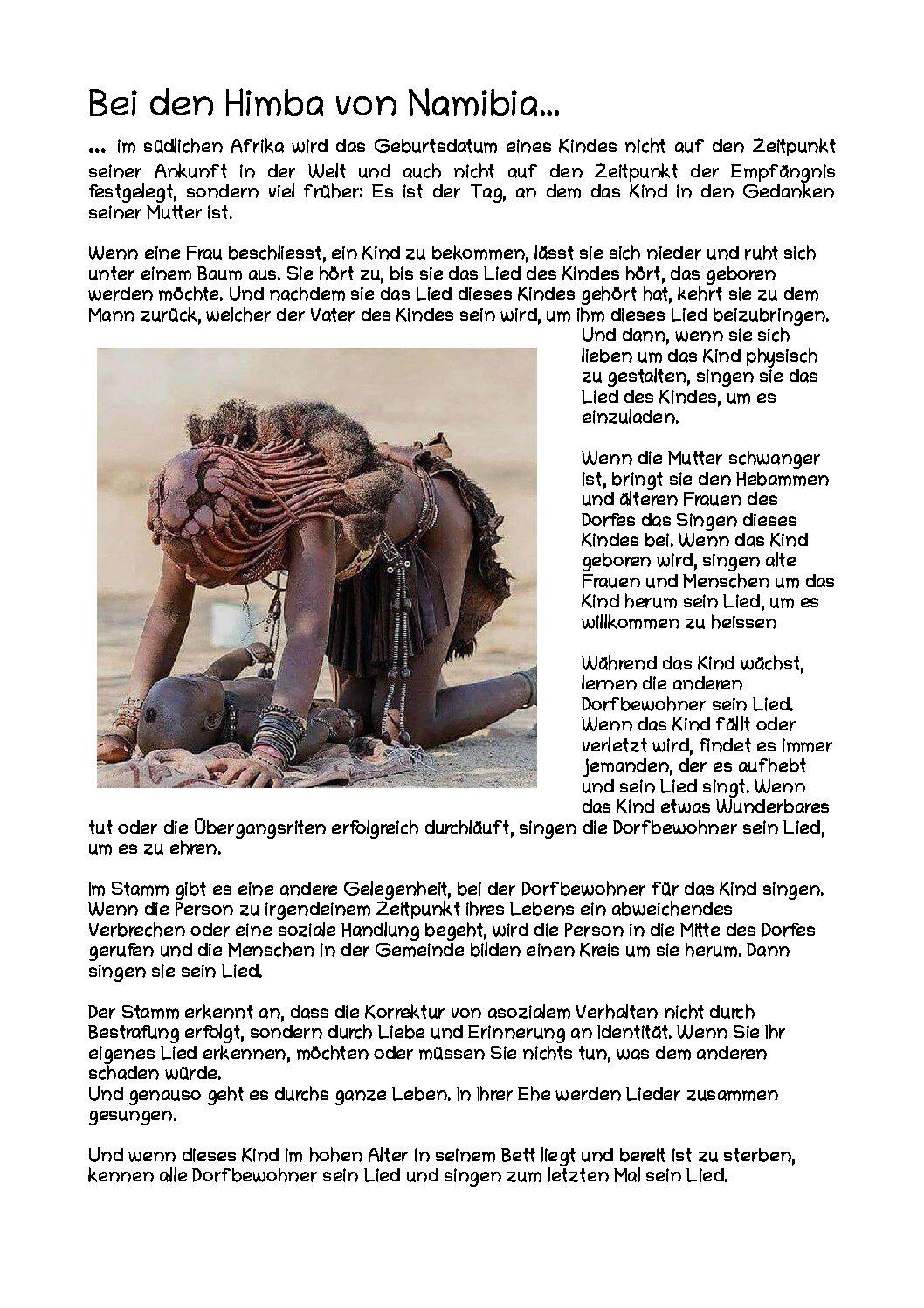 Ritual der Himba von Namibia
